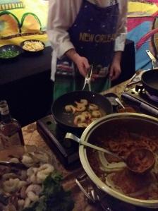 Cooking up shrimp
